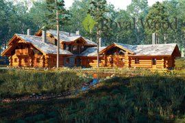 Проект деревянного спа- комплекса «Каплан» — 380м²