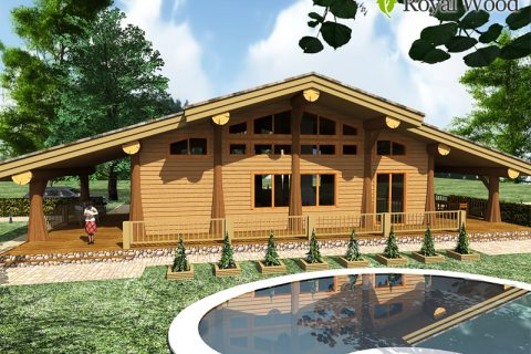 Проект деревянного дома по безусадочной технологии «Ламби»- 134 м²