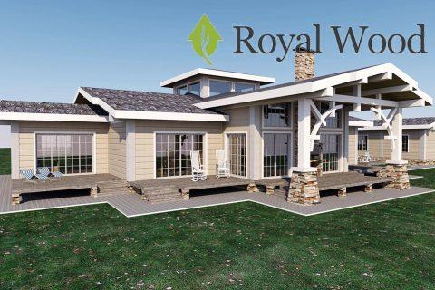 Проект одноэтажного дома по технологии piece-en-piece «Колд Лейк» — 283м²