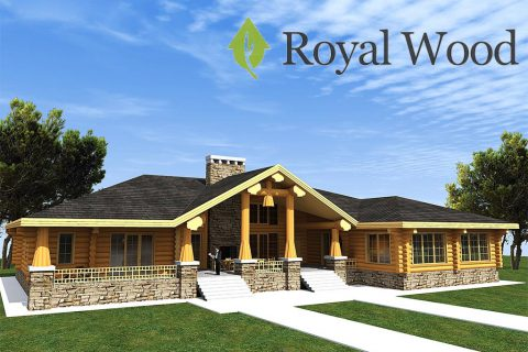 Проект одноэтажного деревянного дома по технологии post and beam «Гринвич» — 464 м²