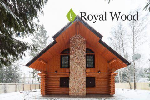 Дом из бревна ручной рубки площадью 160 м². Канадская рубка