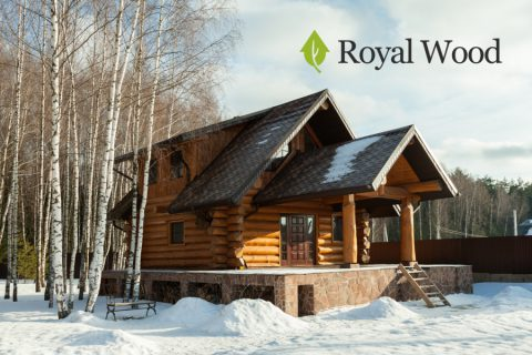 Гостевой дом из сибирского кедра с баней — 120 м²