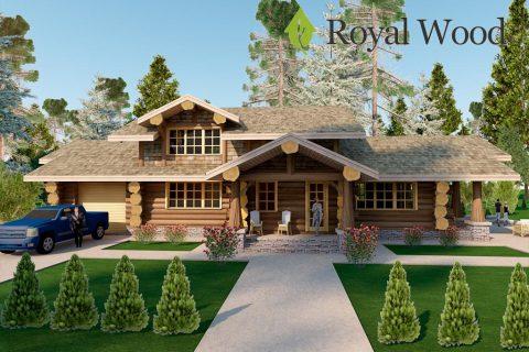 Проект деревянного дома с гаражом «Суррей» — 247м²