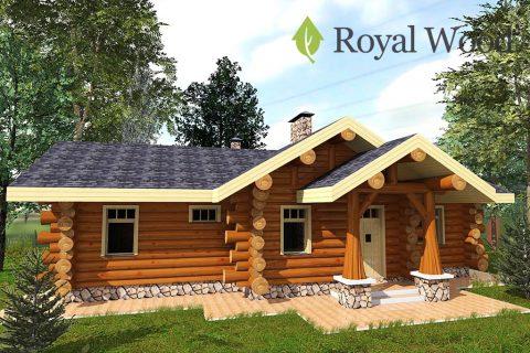 Проект одноэтажного деревянного дома из кедра площадью 104 м² — «Карлстон»