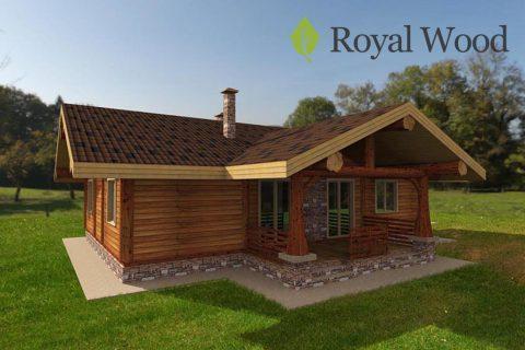 Проект деревянного дома из кедра «Уоллес» — 134 м²