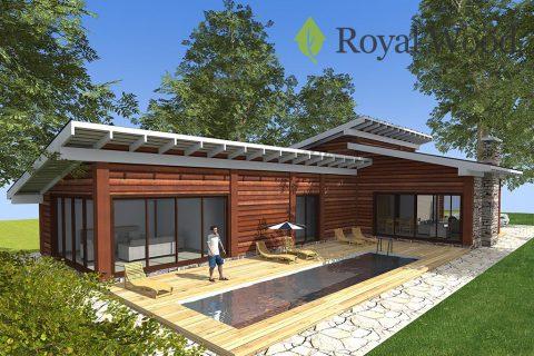 Проект современного деревянного дома «Атабаска» — 260 м²