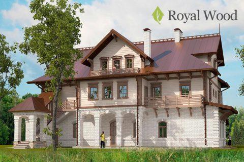Проект деревянного дома из бруса красного канадского кедра «Делавер» — 560м²