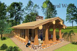Проект деревянного летнего дома — билльярдной «Билли» — 71 м²