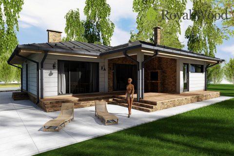 Проект деревянного дома по безусадочной технологии «Алма» — 130,5 м²