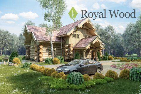 Проект деревянного дома ручной рубки «Галифакс»- 200 м²