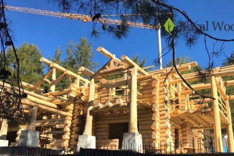Производство деревянного дома площадью 500м² для заказчика из Кипра