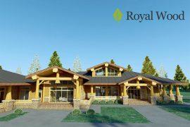 Проект деревянного одноэтажного дома из массива кедра «Россланд» -308м²  Copy